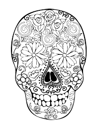 pictures of skulls to color. Plain Skulls Sugar Skull Clipart Printable Coloring Page 15 To Pictures Of Skulls Color R