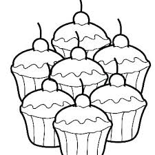 Cupcake Color Page Cute Coloring Pages Birthday Printable Co