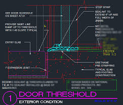 overwhelming door details door threshold detail cad files dwg files plans and details