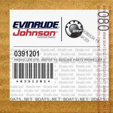 Johnson Evinrude Prop Chart Propeller Std Refer To Genuine Parts Propeller Chart