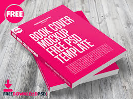 book cover mockup free psd template dribbble