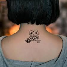2 шт милая мультяшная сова модели водонепроницаемые временные татуировки