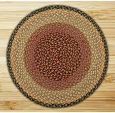 burdy gray and creme braided jute rug round special order sizes
