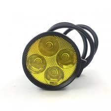 Đèn pha Led trợ sáng L4 vàng 30W - Gương, đèn xe máy Thương hiệu OEM