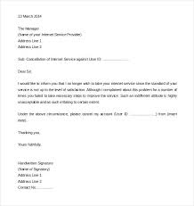 Service Termination Letter Templates Free Sample Example Format