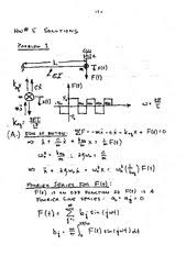 Optional Quiz Solution On Mechanical Vibration Clarkson University