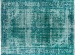 O New Iran Persian Kerman Mint Green Overdyed 9u0027 X 11u0027 Hand Knotted Wool Rug  H6106