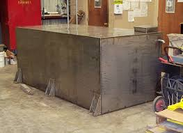custom fabrication of a stainless steel water tank