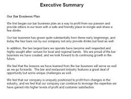 executive summary example business executive summary sample