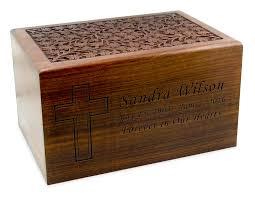 large carved sheesham wood cremation urn 65 jpg