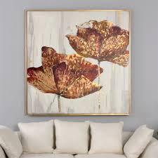 enliven your living space with this floral themed traditional canvas wall art in tones of gold from uttermost  on uttermost large wall art with uttermost golden accents floral art ladd pinterest paintings