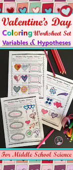 Valentine's Day Variables Coloring Worksheet Set | Scientific ...