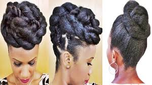Black Braided Bun Hairstyles Braids And Twists Updo Hairstyle For Black Women Youtube