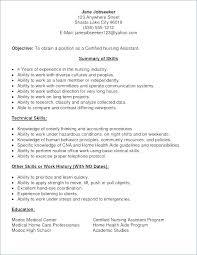 Cna Resume Template Beauteous Cna Resume No Experience Resume Examples Resume No Experience
