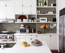 Kitchen Open Shelves Elegant Dressing Stylish Dining Living With Art Interior Design