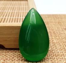 <b>Подвеска из</b> натурального бразильского зеленого халцедона ...