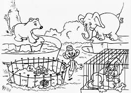 Small Picture Coloring Print Zoo Coloring Page New At Minimalist Picture