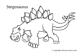 Dinosaur Facts Stegosaurus Dinosaur Coloring Page