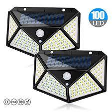 <b>Solar Lights Outdoor 100</b> LEDs Solar Motion Sensor Light Outdoor ...