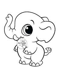 Elephant Coloring Pictures Baby Elephant Coloring Pictures