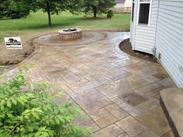 Decor Of Concrete Patio Ideas On A Budget Raised Stamped Inside