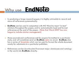 how to use endnotes in essays using endnote while writing a paper in microsoft