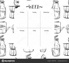 Daily Food Planner Scandinavian Weekly And Daily Food Planner Template Organizer And