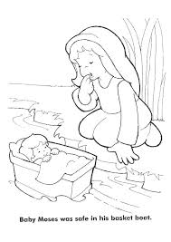 Baby Moses In Basket Coloring Page Fresh Baby Moses Coloring Pages