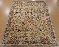 9 x 12 pottery barn eva persian style new hand tufted wool ivory blue