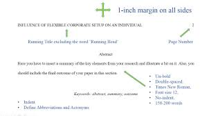 An Apa Format Example Shows Ways To Compose A Research Paper