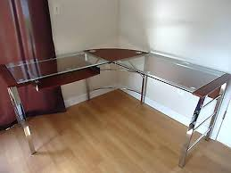 glass desk office depot protector ikea galant
