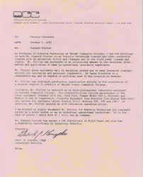 Faculty Promotion Letter Of Recommendation Sample Recommendation Letter College Professor Serpto