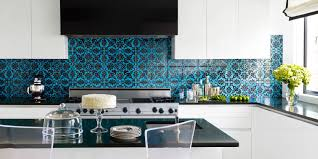 Colorful Backsplash Minimalist White Kitchen Cabinet System Large Gas Stove  Appliance Black Kitchen Countertop A Kitchen · Colorful Backsplash Tiles  Design ...