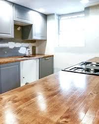 butcher block countertops white cabinets white kitchen