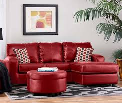 leather couches and blood red sofas