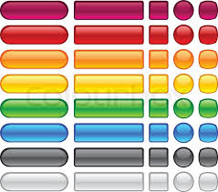 Blank Web Glossy Buttons Stock Vector Colourbox