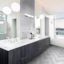 Jeff Lewis Mapleton 7 in. x 12 in. x 10 mm Marble Mosaic Tile in ...