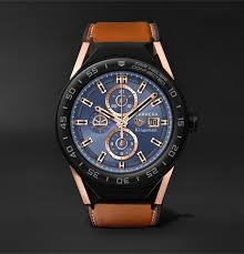 kingsman x tag heuer tag heuer connected modular 45mm ceramic and leather smart watch