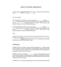 Joint Venture Agreement Template Magdalene Project Org