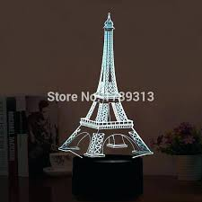 eiffel tower lamp base tower lamp led illusion lights led tower table lamp with colorful flashing eiffel tower lamp