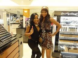 mac makeup artist patrice murrell y estilo ger kristy samone with viva glam nicki lipstick mac