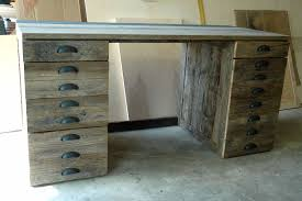 reclaimed wood office. Charming Reclaimed Wood Desk For Your Home Office Design: Rustic Handmade Oak