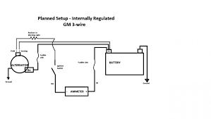 chevy 1 wire alternator diagram wiring diagram using 3 wire alternator wiring diagram ammeter data wiring diagram
