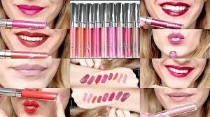 colourpop cosmetics ultra matte liquid lipsticks swatches review