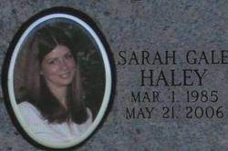 Sarah Gale Clutter Haley (1985-2006) - Find A Grave Memorial