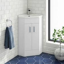 vellamo alpine 2 door corner cabinet vanity unit basin 800 x 367mm