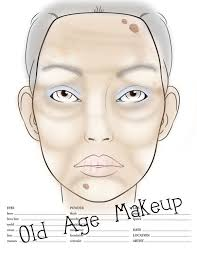 Old Age Face Chart In 2019 Makeup Charts Old Age Makeup