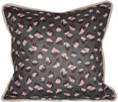 kw feline pillow in graphite rose velvet kelly wearstler pillows cases limited quantities ds with velvet pillows kelly wearstler