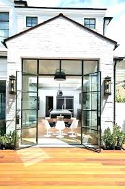 exterior steel double doors. Steel French Doors Awesome Exterior Double Whitewashed Brick Home With Black Windows And Patio O