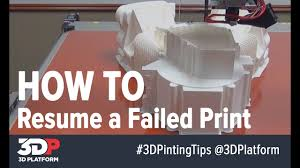 resume print how to resume a failed 3d print 3d printing tech tips youtube